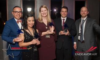 Endeavor Elite Champions - Eugenio Juaquin, Lilibeth Vios, Amy Majewski, Jose Sanchez, with Joe Miller, Chief Operating Officer